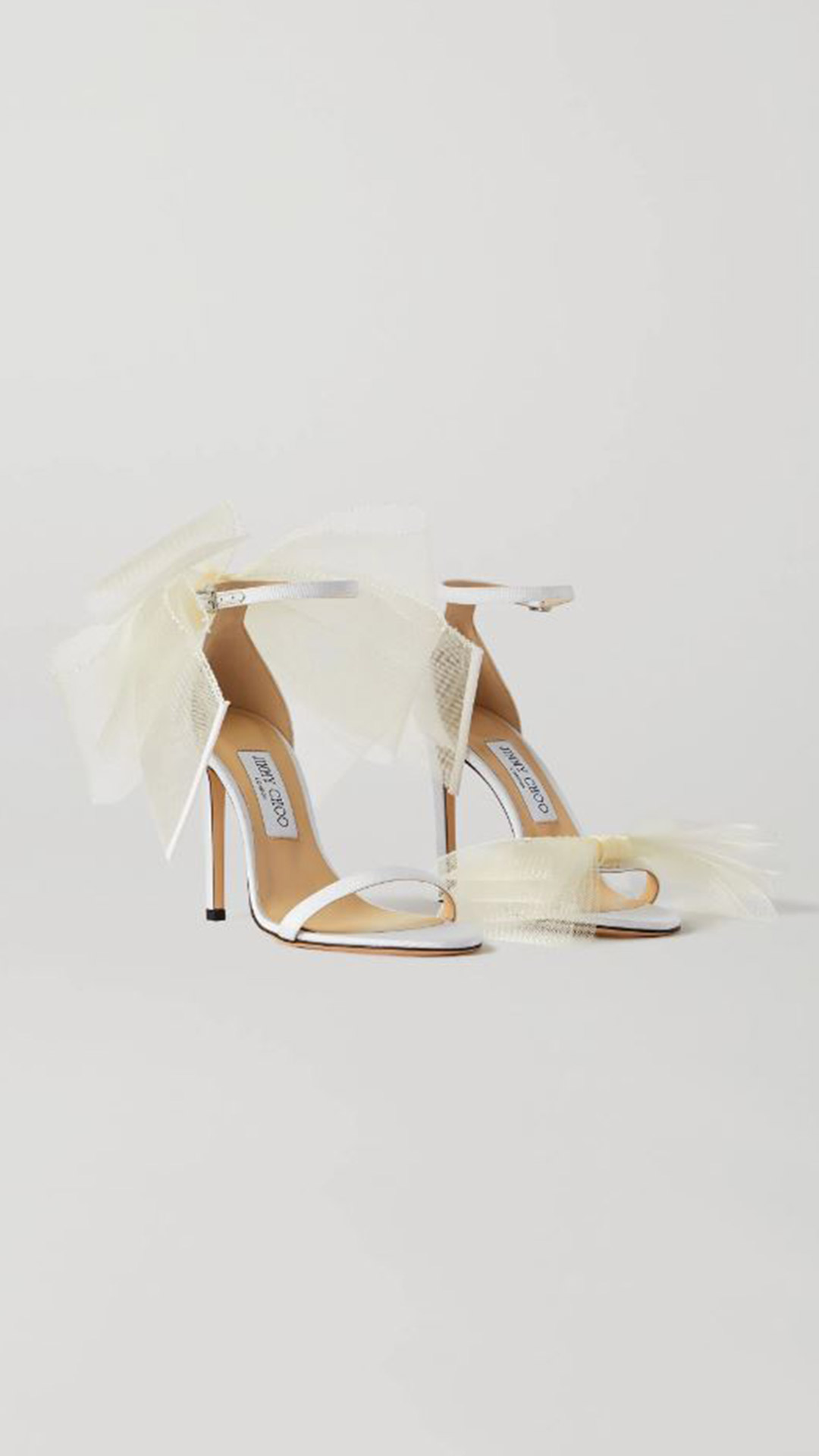 JIMMY CHOO Aveline Bow-Embellished Sandals