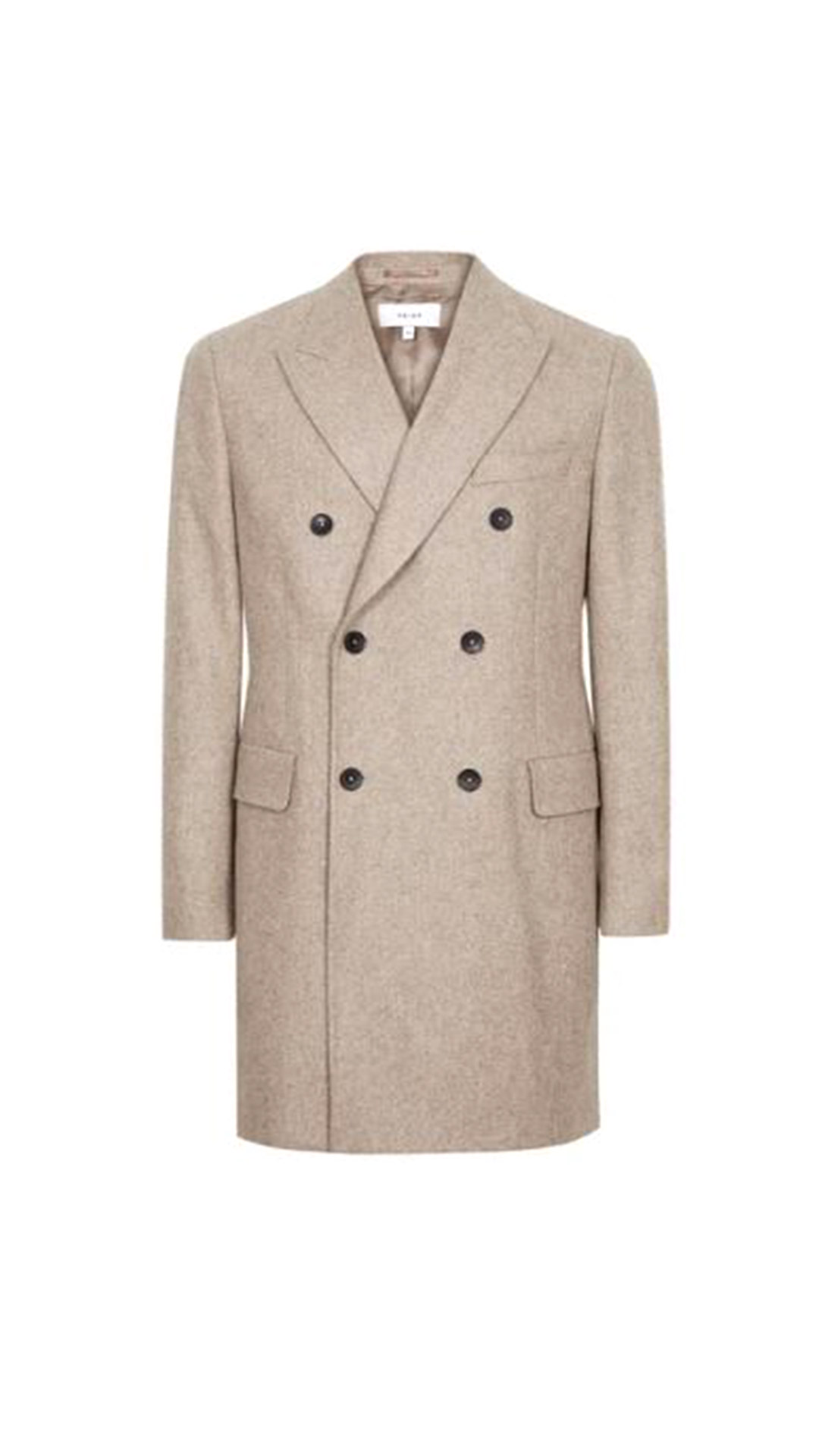 REISS Double Breasted Overcoat
