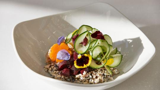 A dish from The Cafe at Harvey Nichols