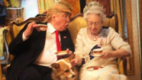 Alison Jackson Donald Trump and Queen Elizabeth
