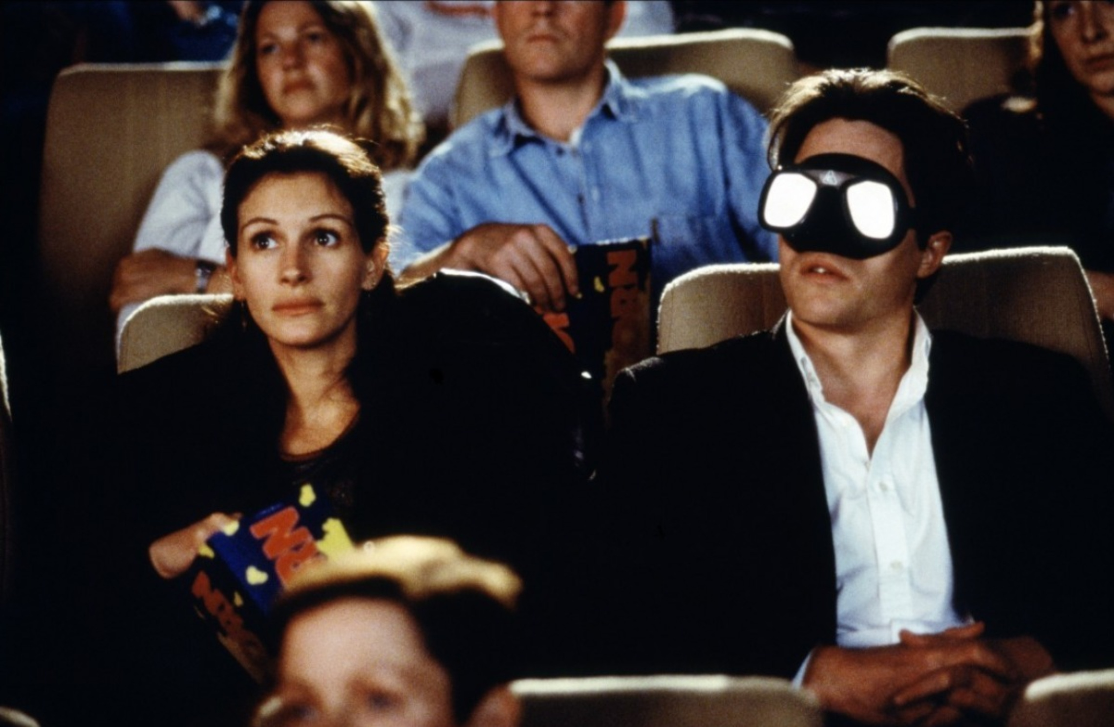 Julia Roberts and Hugh Grant in a cinema in Notting Hill