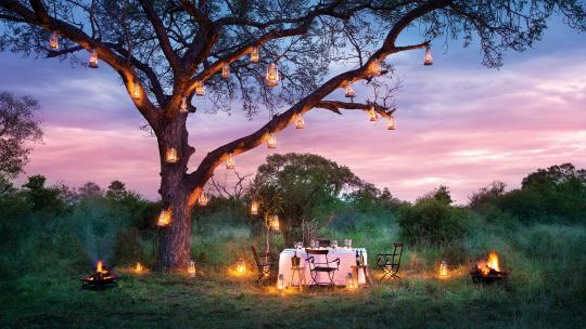 dinner at kruger national park