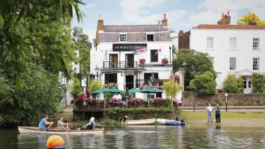 best beer gardens london white swan