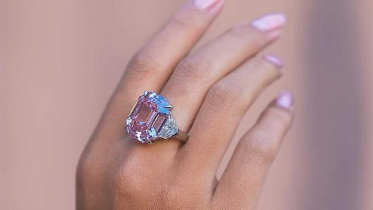 pink legacy diamond ring christies