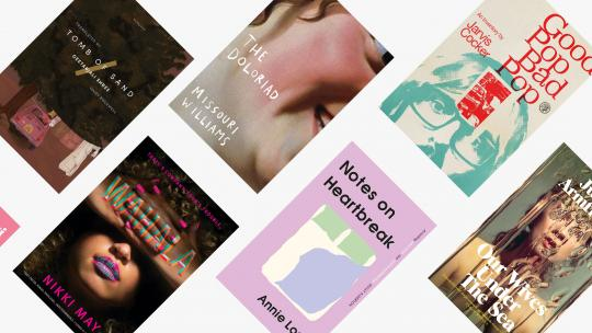 A collage of vibrant book covers