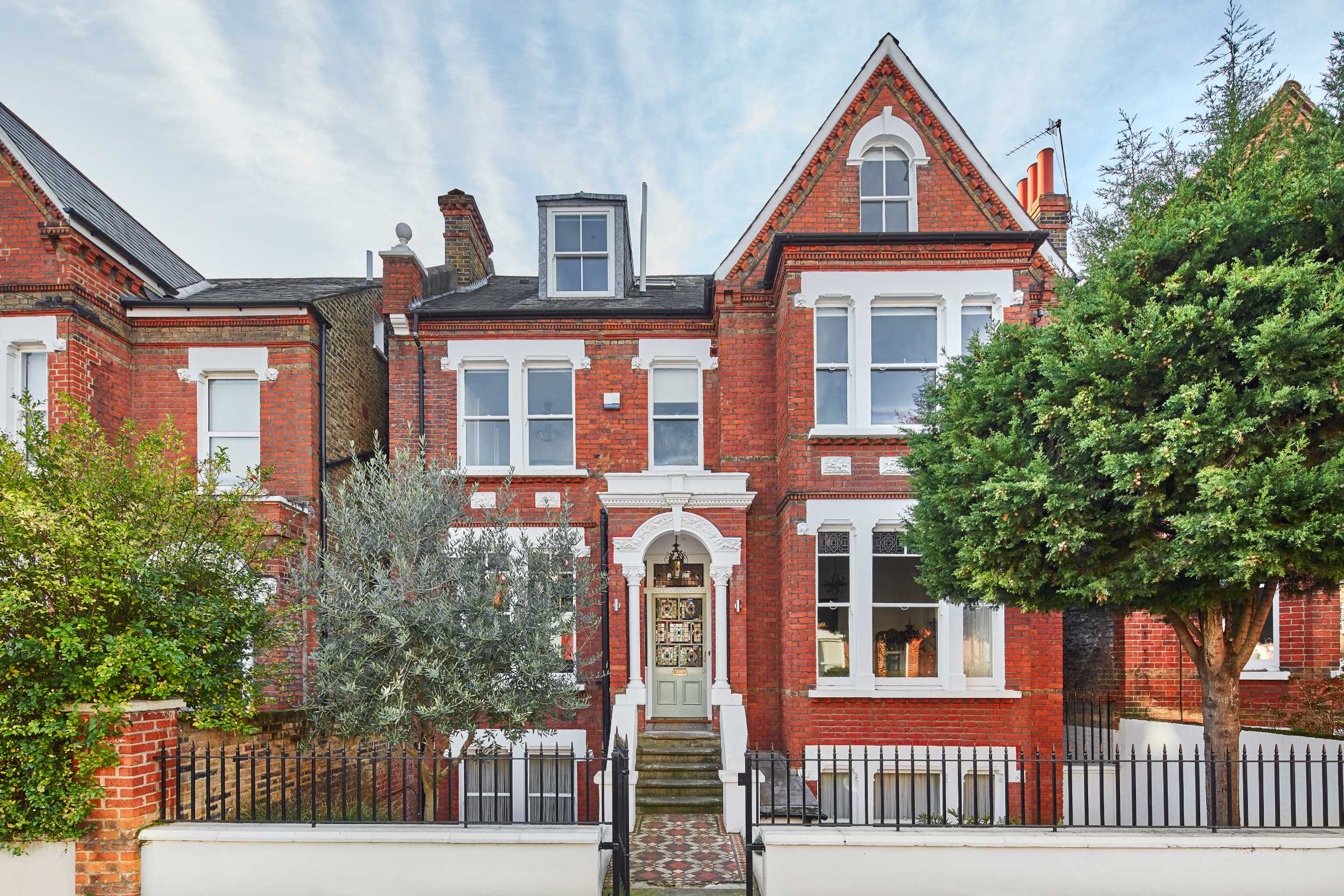 The exterior of a Victorian house for sale on Templar Street, SE5