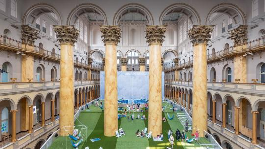 Lawn installation, National Building Museum