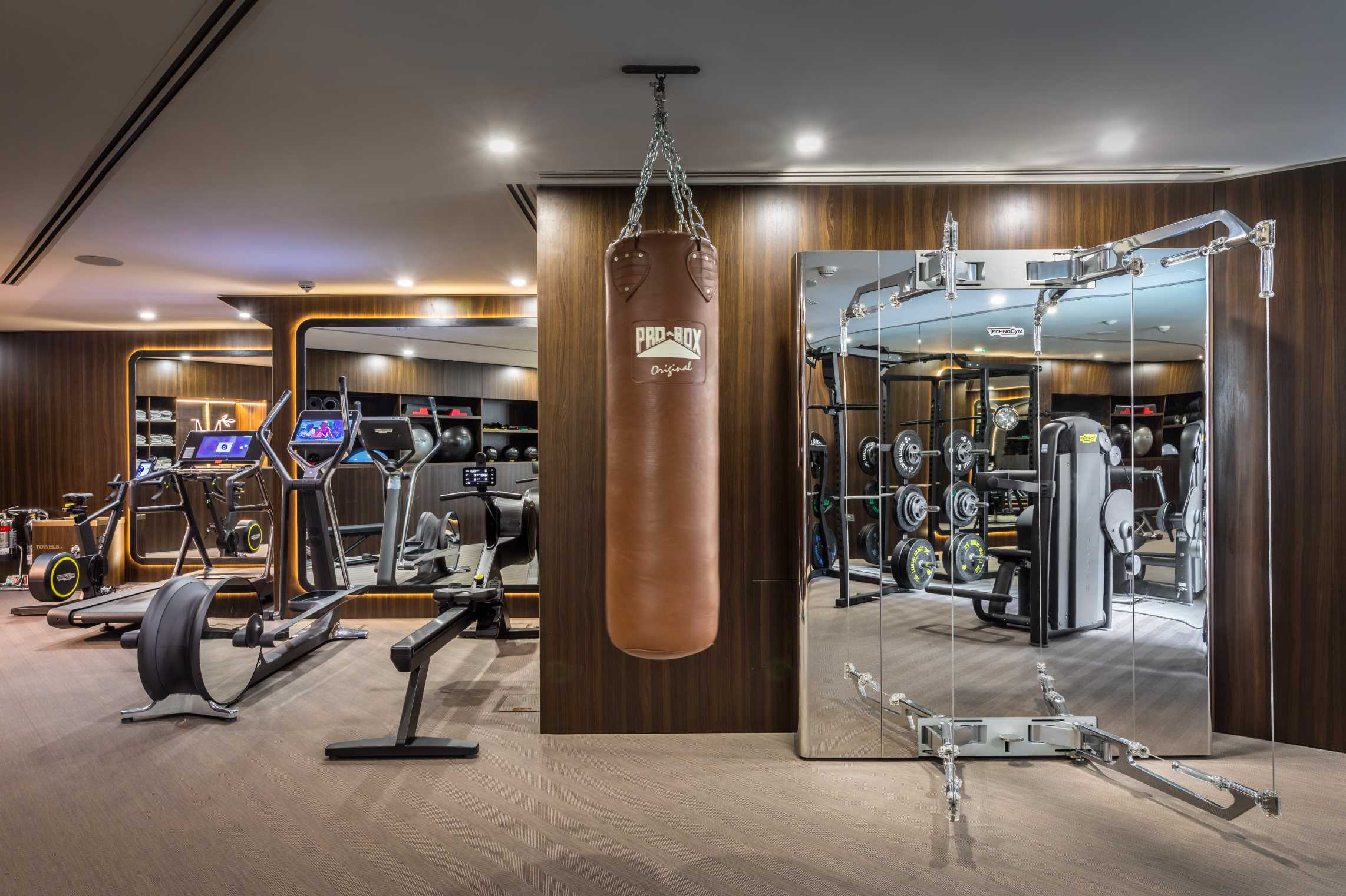 The gym at The Mansion development in Marylebone