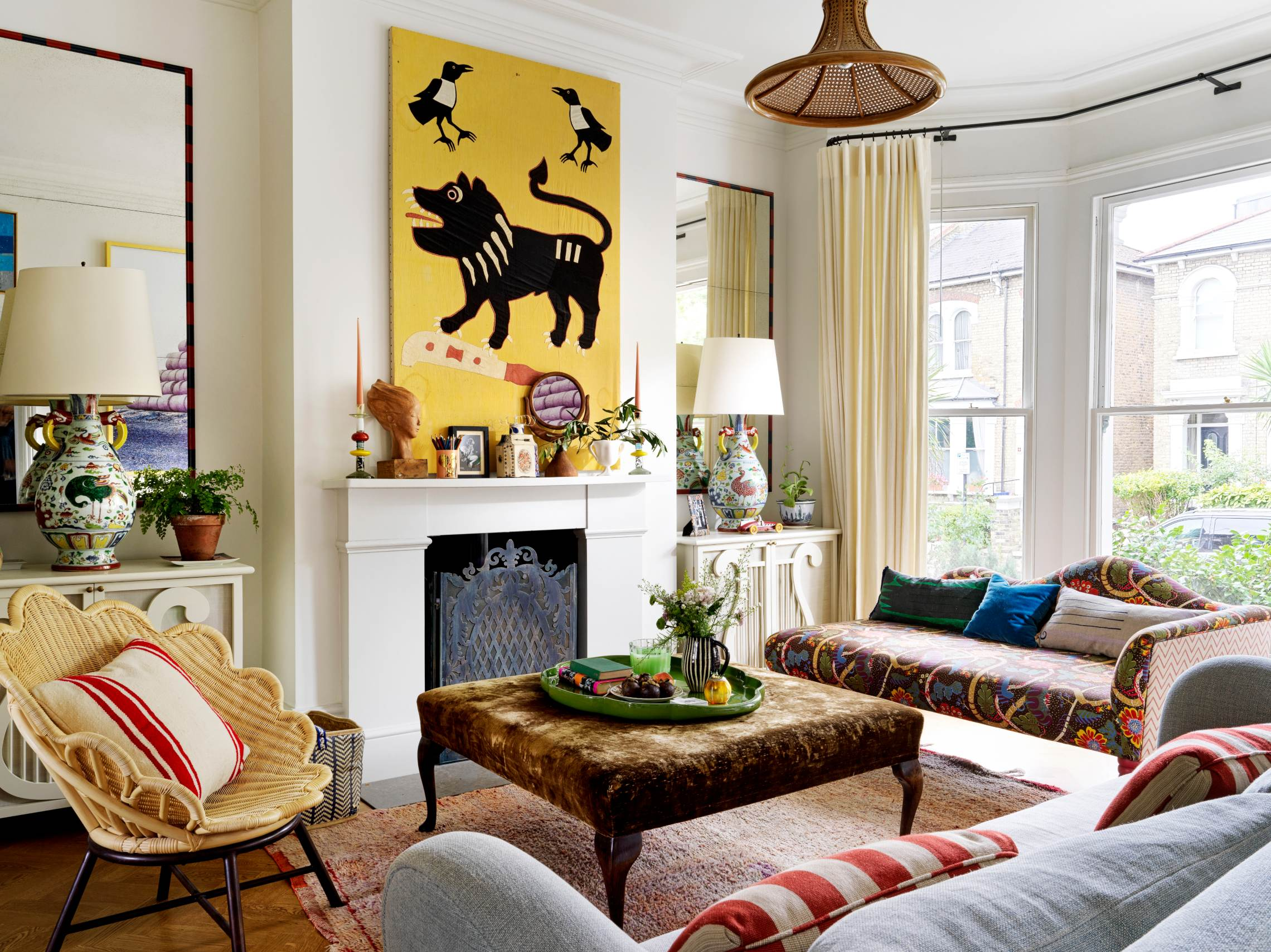 The living room in Beata Heuman's Hammersmith home