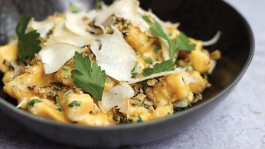 <h1>Borough Market's gnocchi with drumlin cheese velouté and pumpkin seed crumble</h1>