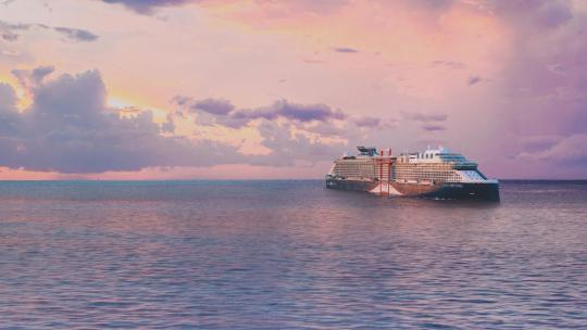 A cruise liner from Celebrity Cruises