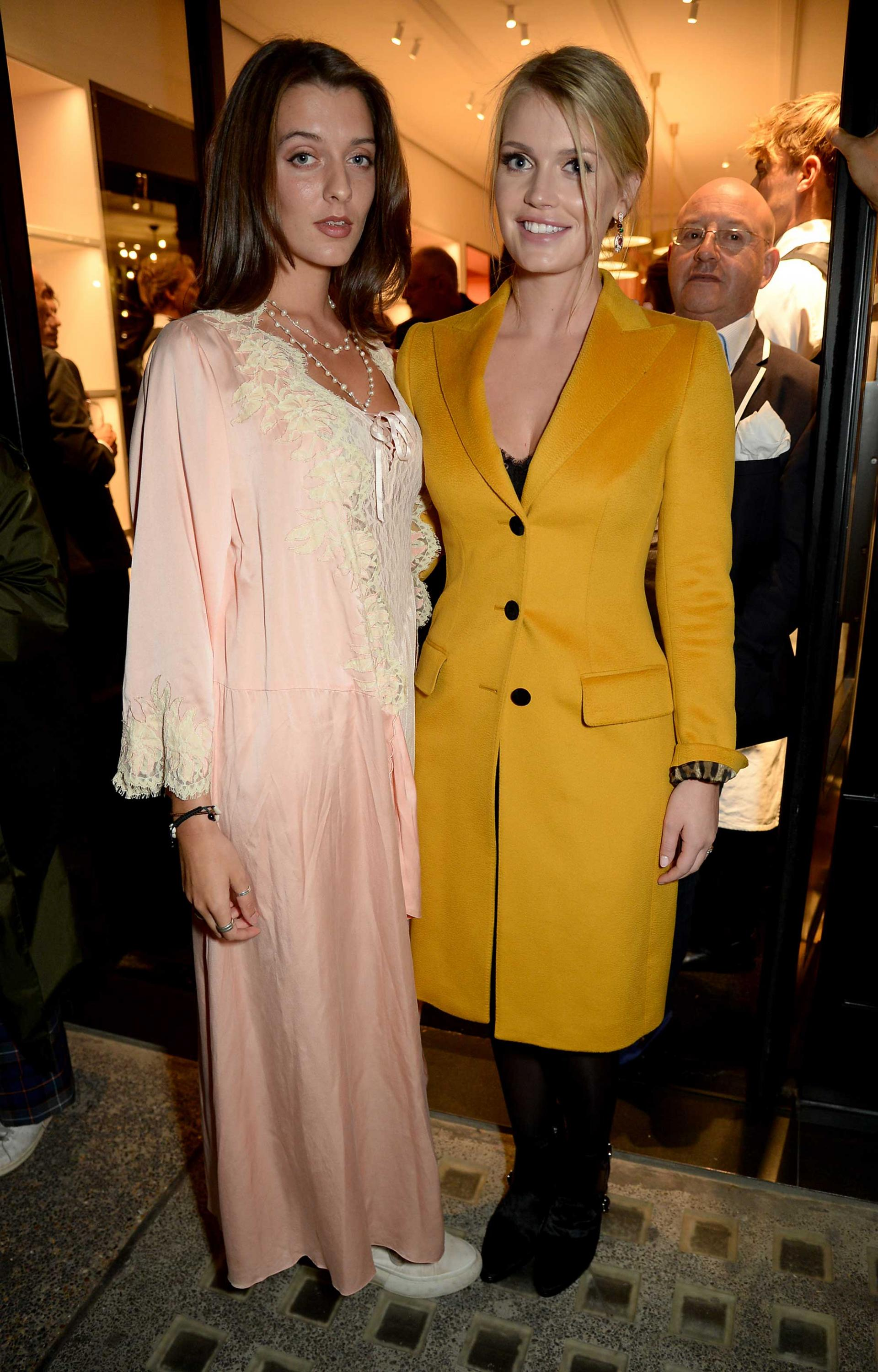 2fa8ed10d1 The walls were barely dry when Lady Kitty Spencer, Sabine Getty and Olivia  Grant piled into the new Tod's concept space in Chelsea, debuted during  London ...