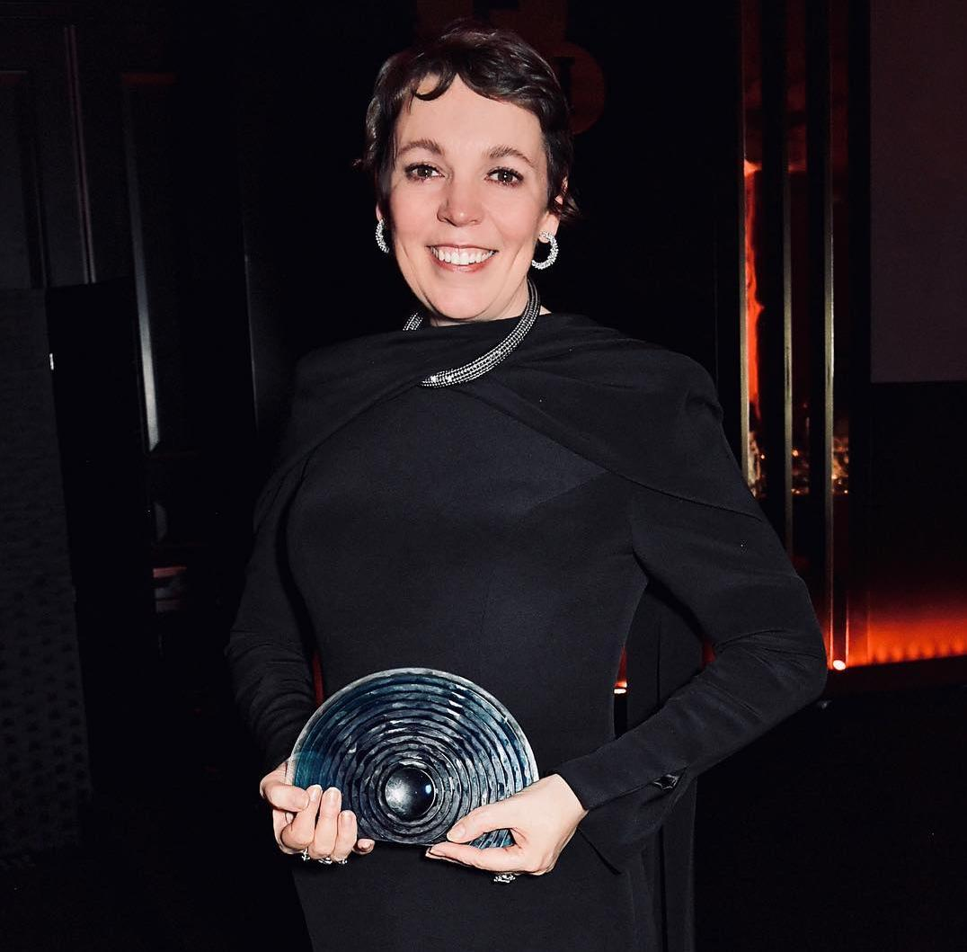 8bb7d64f9 This week, Olivia Colman was awarded a BFI fellowship, presented the 2019  BFI Chairman's Dinner held at Rosewood London. The Oscar-winning actress  picked up ...