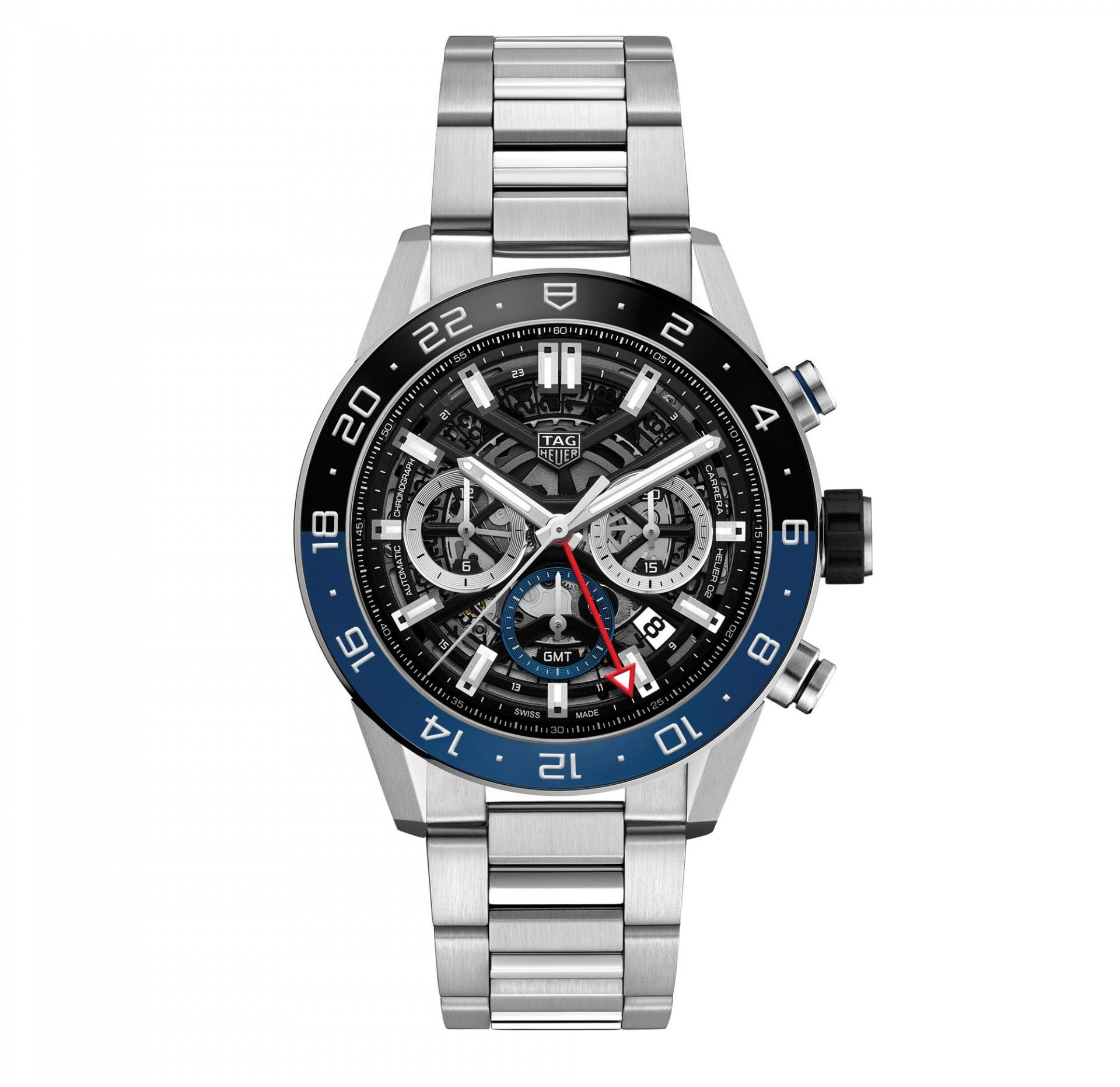 Carrera Chronograph GMT, £4,900, Tag Heuer