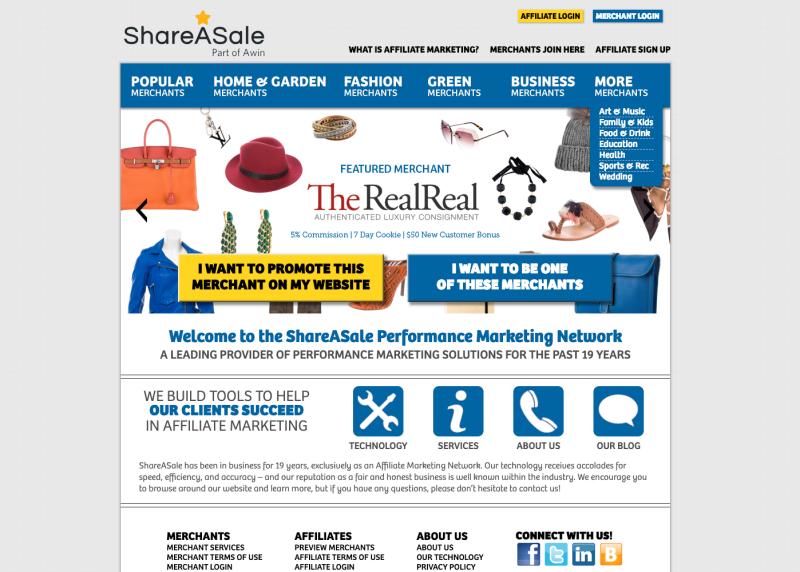 shareasale home
