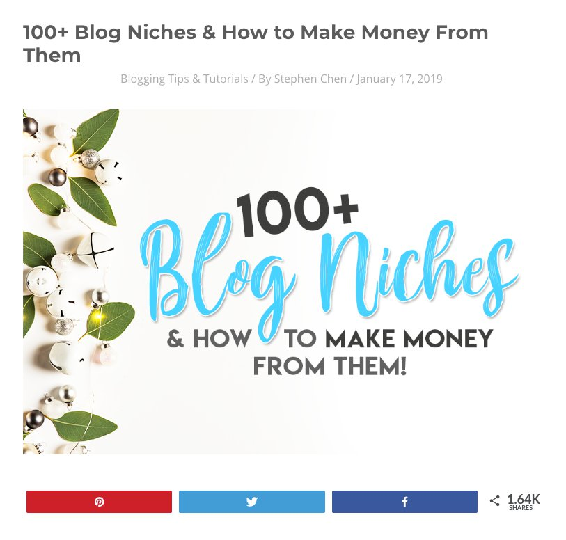best niches for blogging