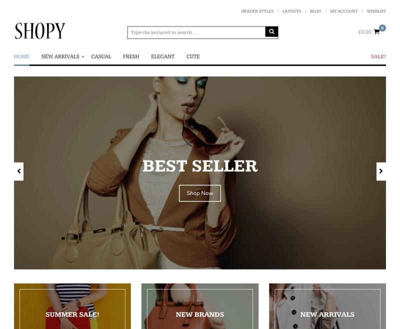 shoppy theme