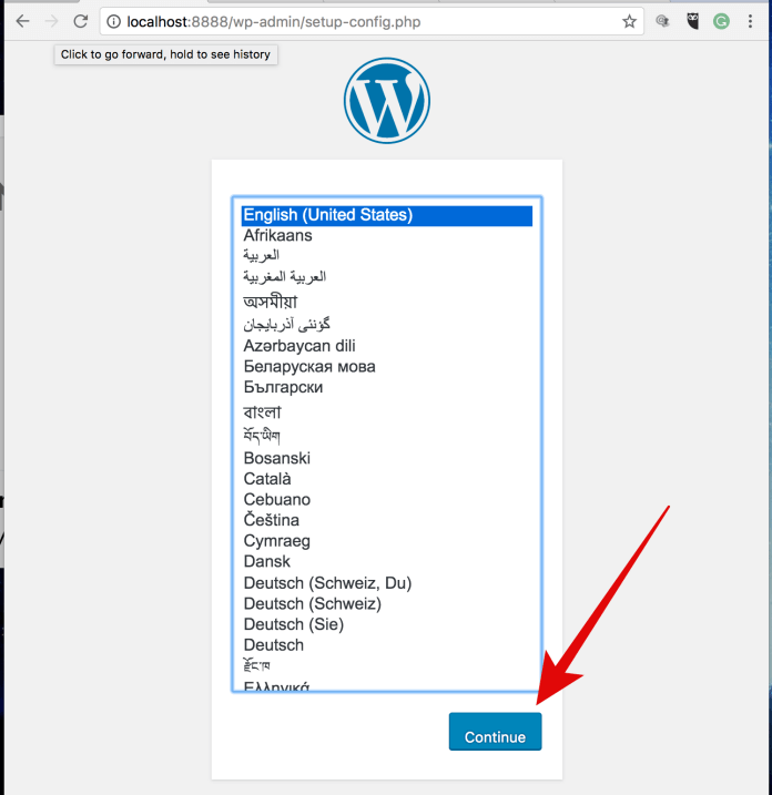 14 Go+to+WP+web+address+to+Install+WP