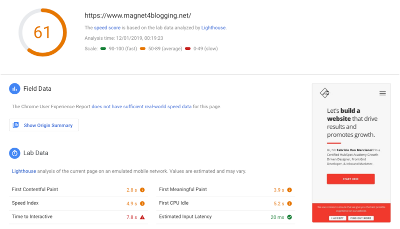 pagespeed 4