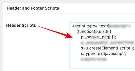script header