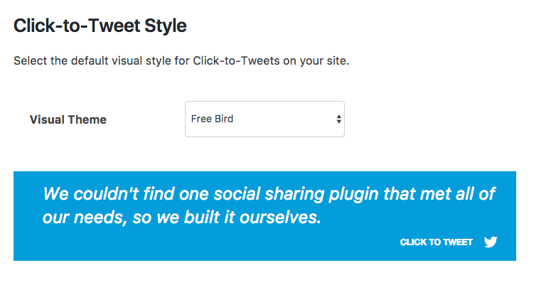 click to tweet feature