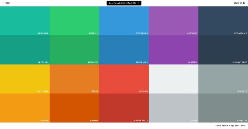 Flat Colors UI