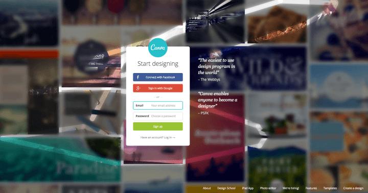 Canva design tool