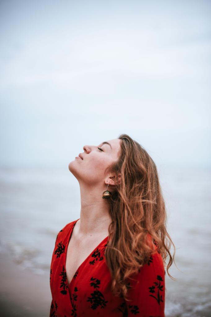 portret shoot aan zee