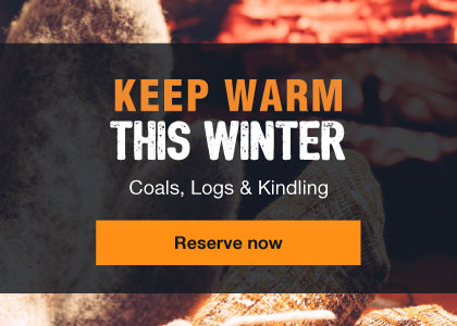 Keep warm this winter - Coal, logs and kindling