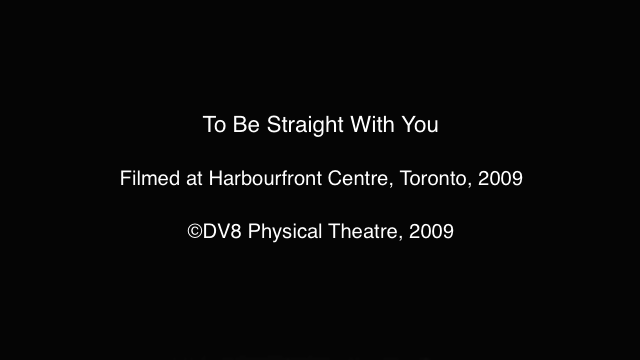 To Be Straight With You