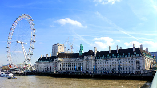 London County Hall as seen from Westminster Bridge
