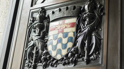 London Couty Hall heraldry