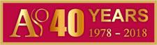 ASO 40 anniversary logo