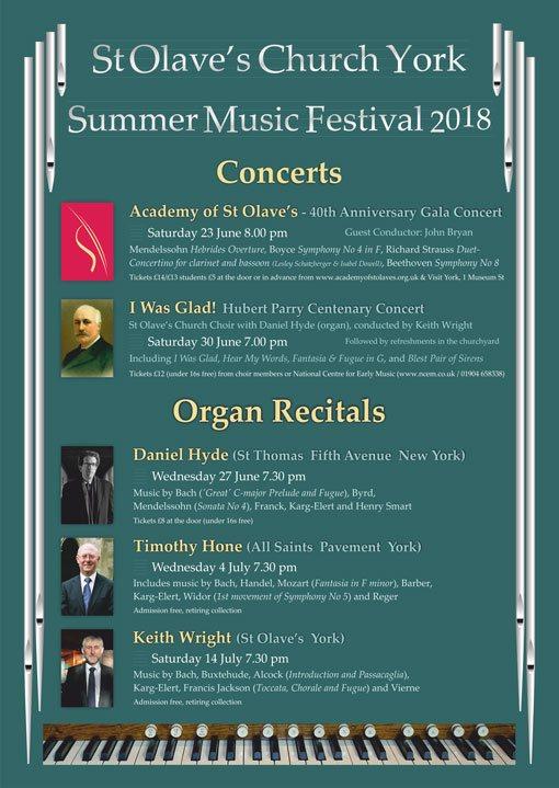 2018 Summer Music Festival Poster