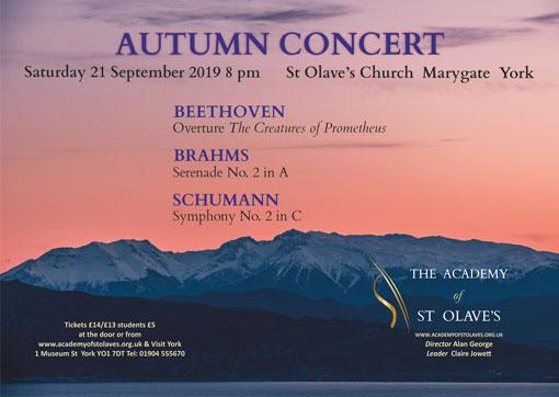Orchestra Concerts in York - September 2019