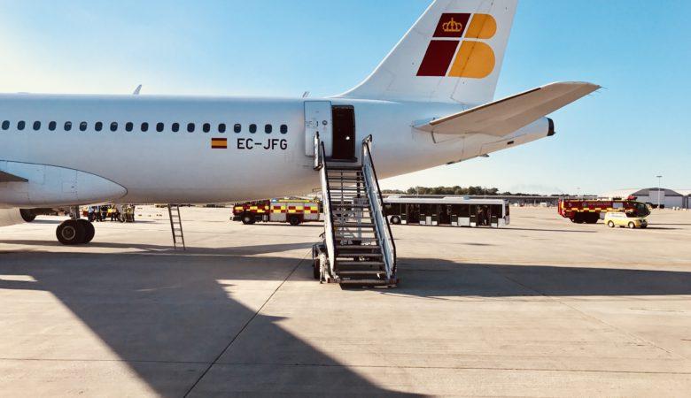Iberia tail fin