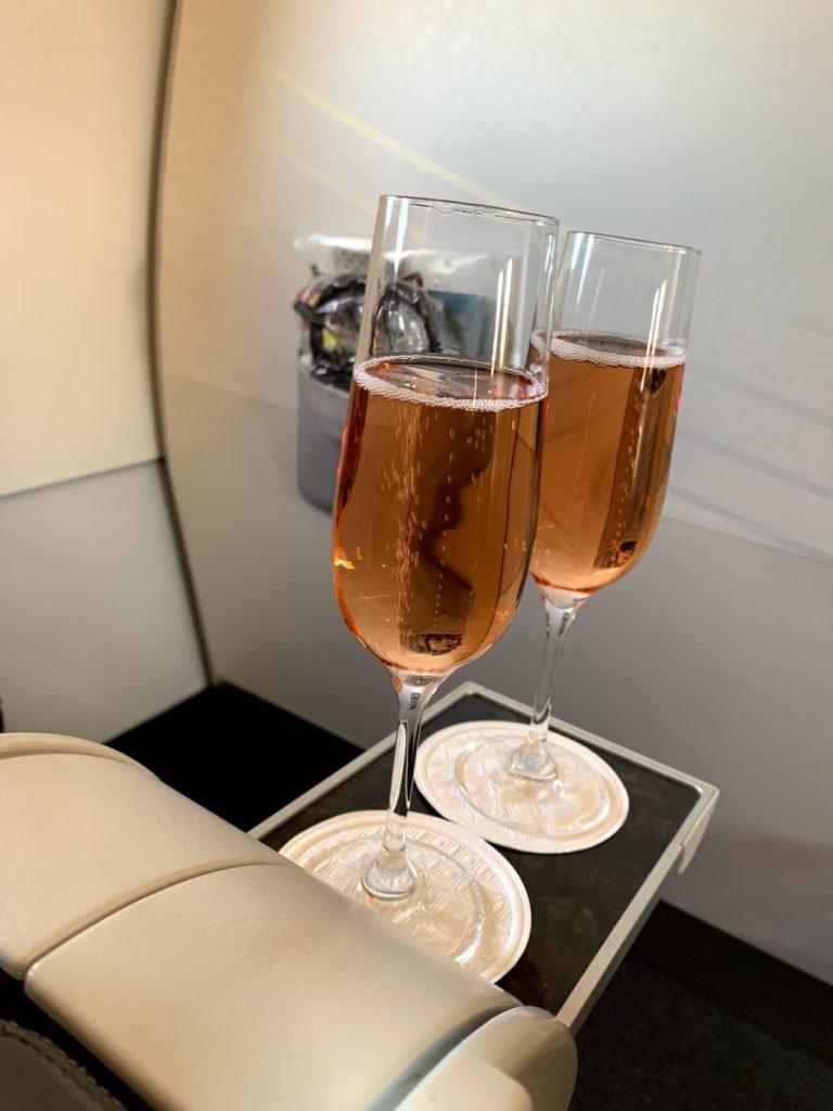 Canard-Duchene Charles VII Brut Rose France Champagne - pre-flight drink