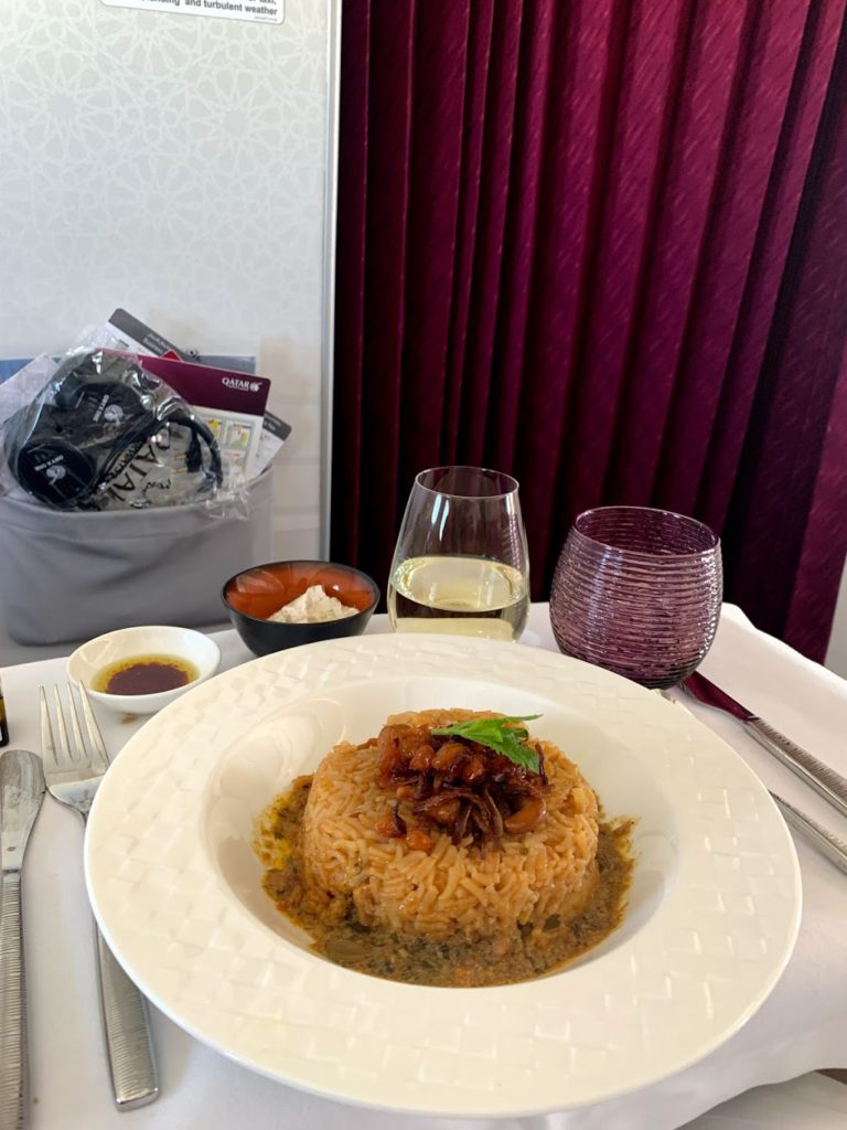 Chicken Machboos: This is frequent staple on Qatar Airways flights - and it's as delicious as it looks.