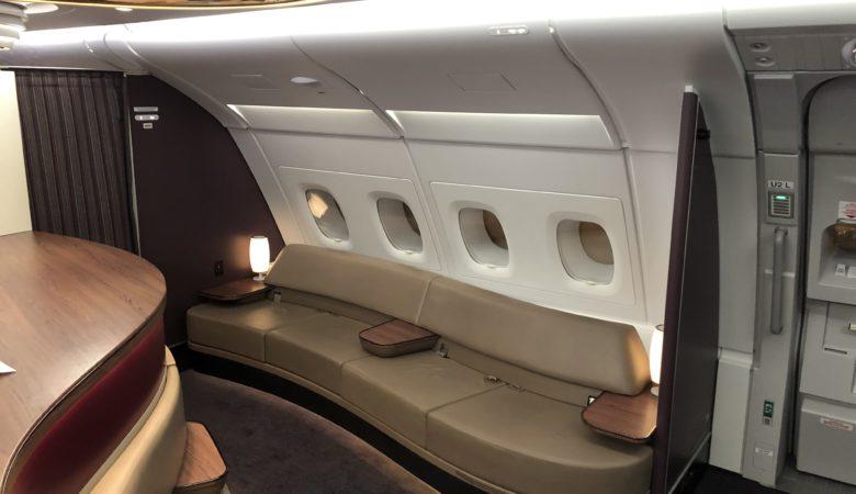 Bar on Qatar Airways A380