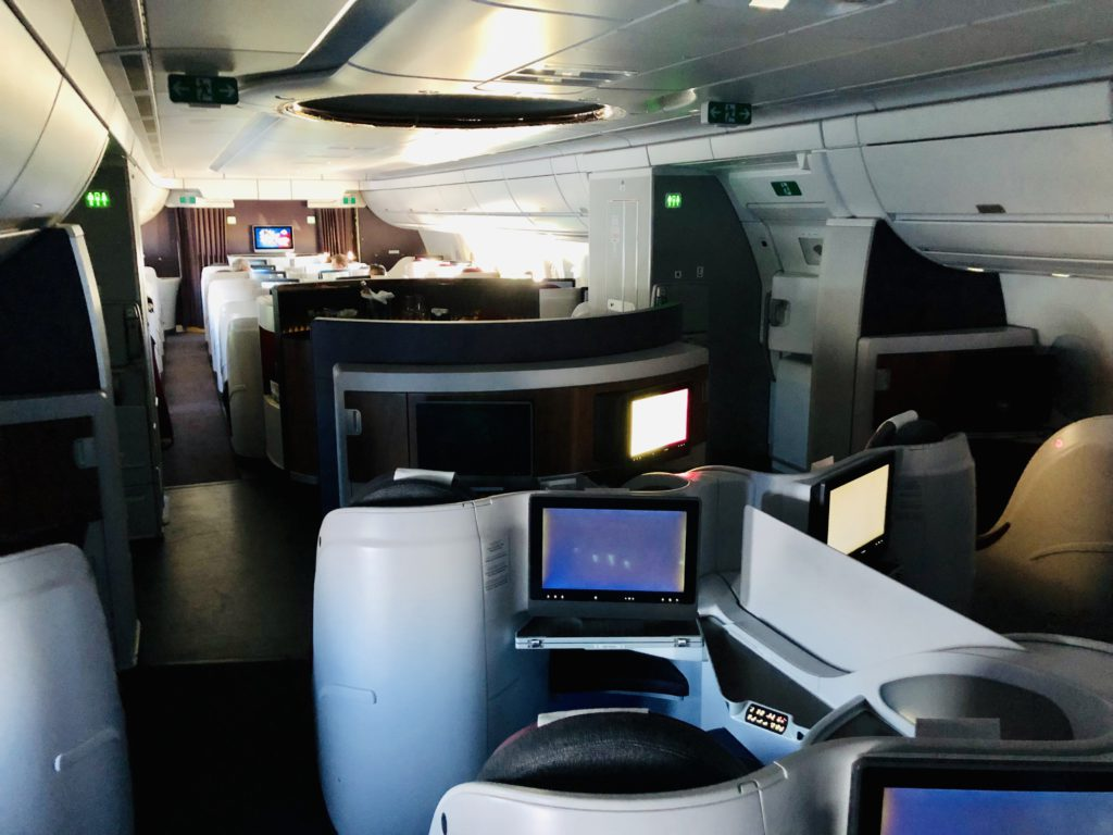 Qatar Airways A350 business cabin