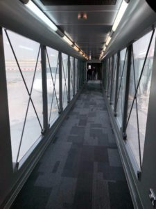 Your boarding group determines how many people walk the air bridge before you