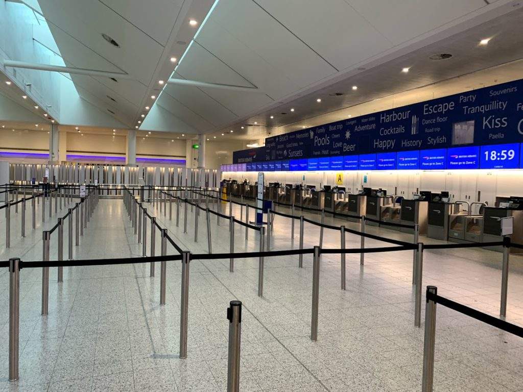 British Airways Check-in at London Gatwick