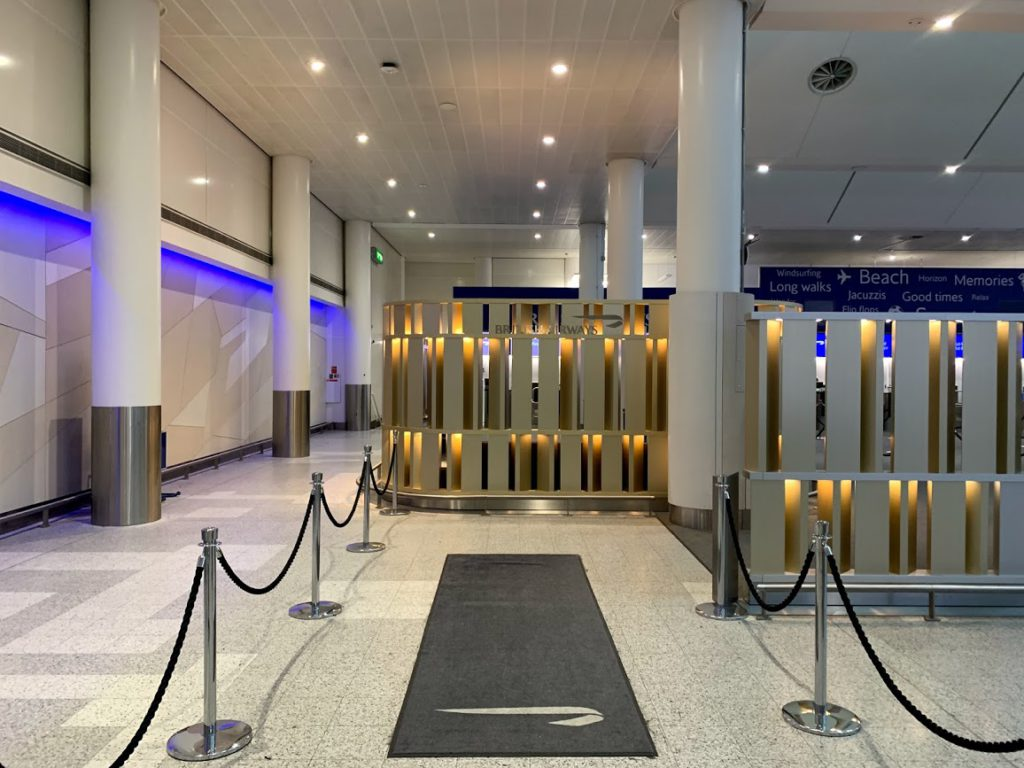 British Airways First check-in at London Gatwick