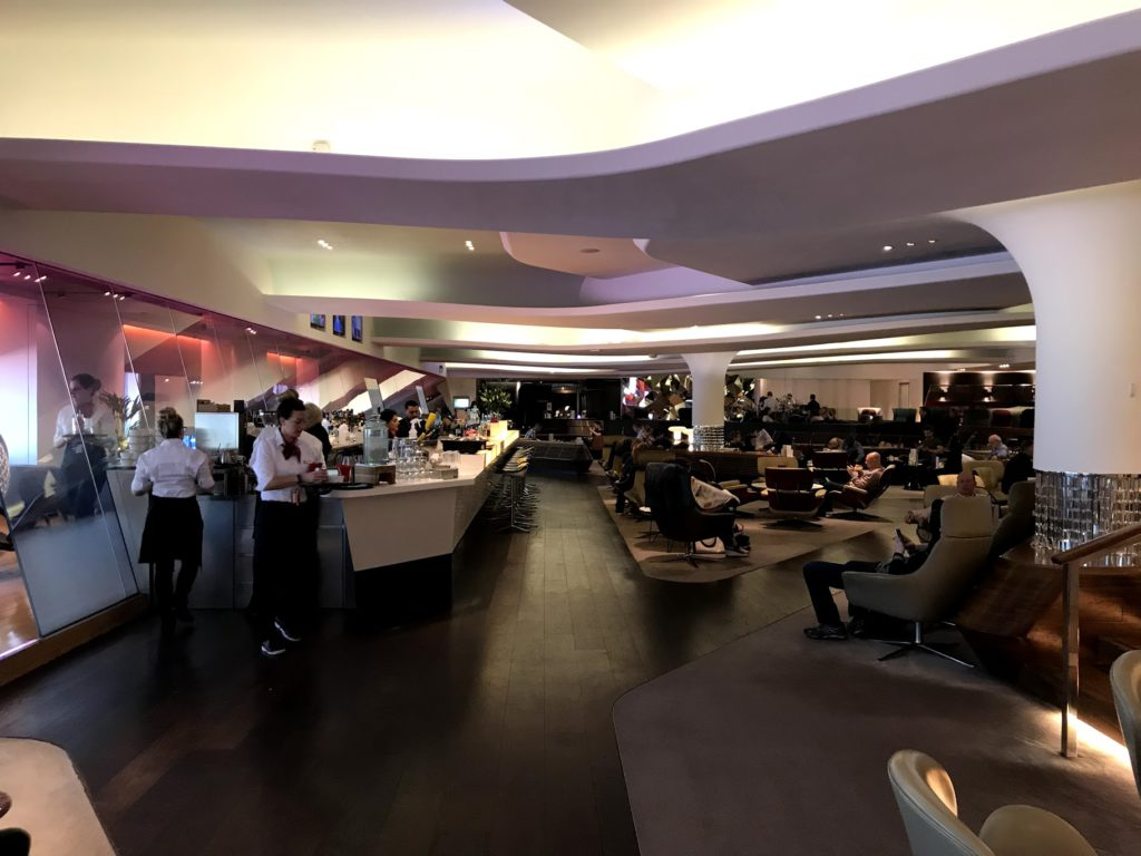 Image of the bar at the Virgin Clubhouse