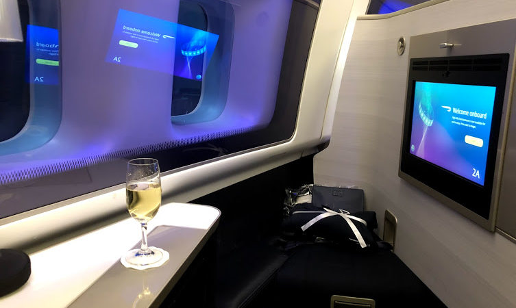 BA First seat on 747