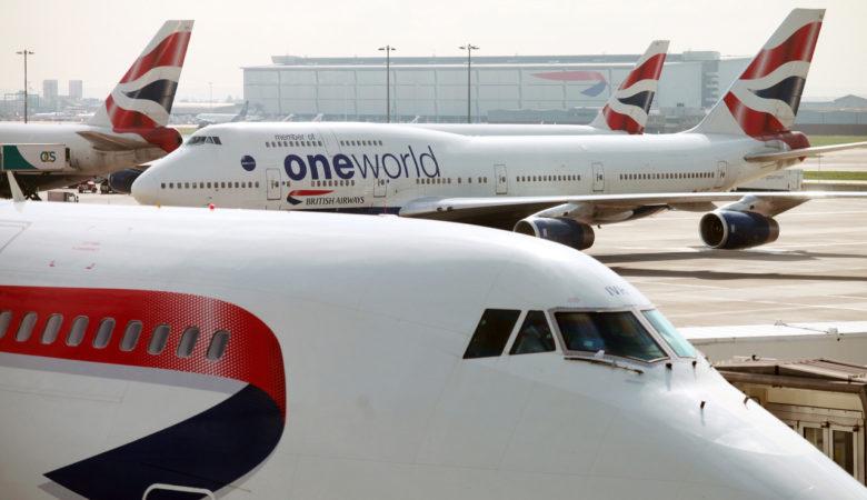 BA 747 at Heathrow