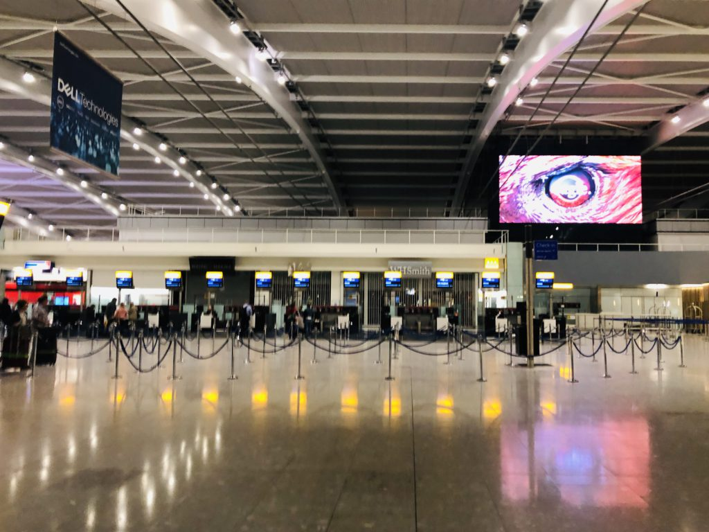 BA check-in desks at Terminal 5