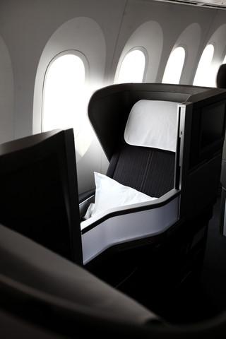 Club World onboard the British Airways Boeing 787 Dreamliner