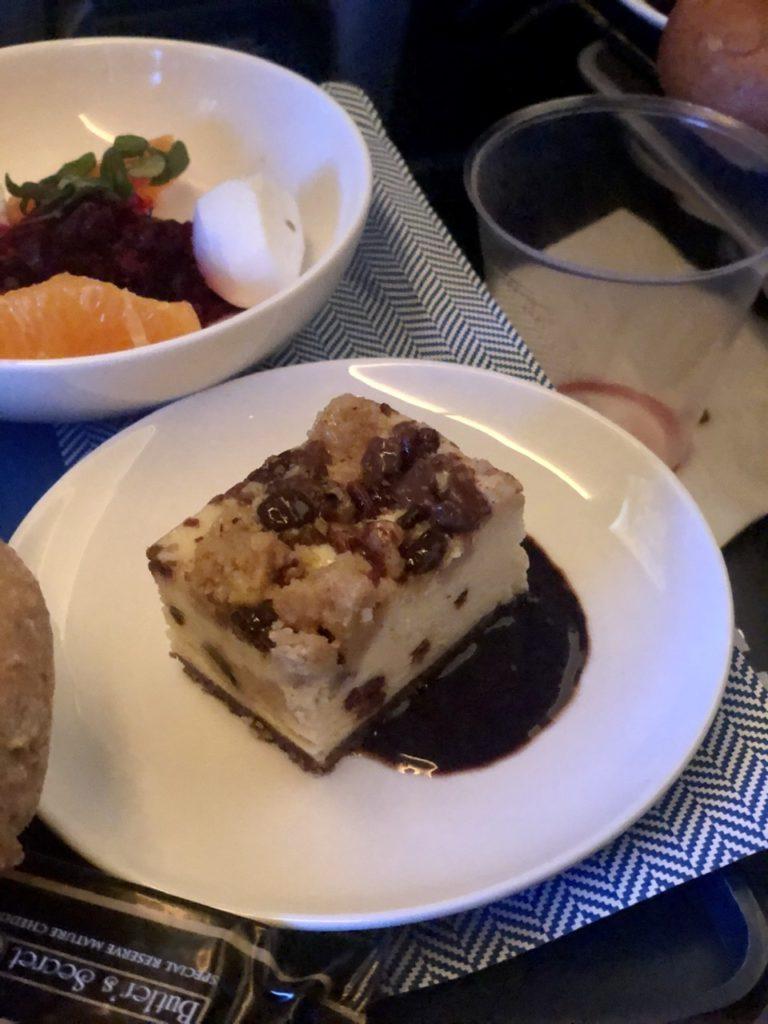 Dessert in BA Premium Economy