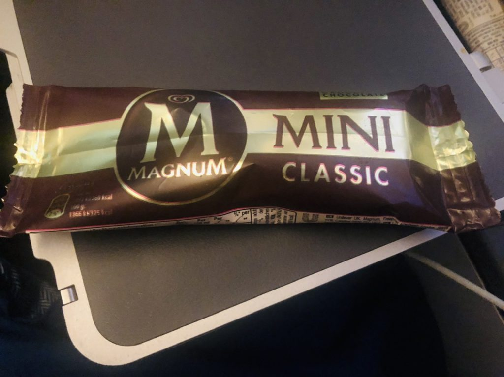 Magnum mini classic on BA Premium Economy